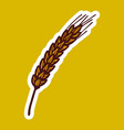 wheat spice icon hand drawn style vector image