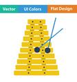 Xylophone icon vector image