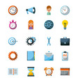 business icon concept management work progress vector image
