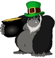 Monkey with a pot of gold vector image