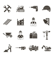Construction Black Icon Set vector image