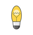 light bulb filled outline icon vector image