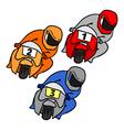 Racing motorcycles vector image