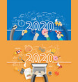 2020 new year business success creative drawing vector image vector image