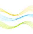 abstract colorful flowing wave lines vector image vector image
