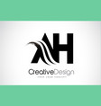 ah a h creative brush black letters design vector image vector image