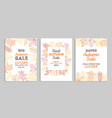 autumn sale banners fall advertising vouchers vector image vector image