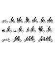 bicycle accessories and equipments pictograms vector image vector image