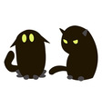 Blac cats vector image