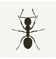 black ant silhouette viwed from above vector image
