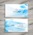 blue flower floral business card vector image vector image