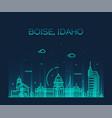 Boise idaho skyline usa linear style city
