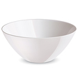 Bowl white vector image vector image