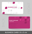 business card template for your corporate vector image