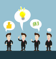 businessman talk about new idea disagree vector image vector image
