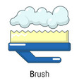carpet brush icon cartoon style vector image vector image
