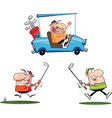 Cartoon golfer vector image vector image