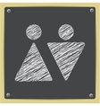 chalk drawn sketch oficon vector image