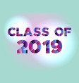 class of 2019 concept colorful word art vector image vector image