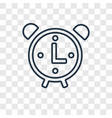clock concept linear icon isolated on transparent vector image vector image