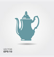 coffee pot icon vector image vector image