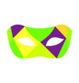 colorful carnival mask vector image