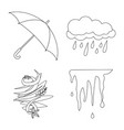 design of weather and climate sign set of vector image vector image