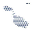 dotted map of malta isolated on white background vector image vector image