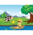 Farm scene vector image vector image