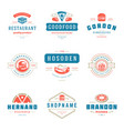fast food logos set good vector image