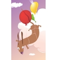 Flying Dachshund vector image