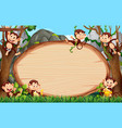 Frame design with many monkeys around border