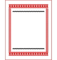frame for cross-stitch embroidery red colors vector image