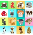 Great set of icons with different animals vector image