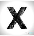 grunge letter x black font sketch style symbol vector image vector image