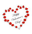 happy valentines day greeting card beautiful vector image vector image