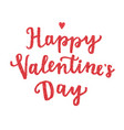 Happy valentines day hand drawn lettering
