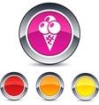 icecream round button vector image vector image