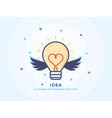 Idea Icon with a Lightbulb vector image