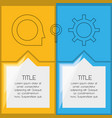 infographic template with icon information vector image