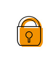 isolated padlock design vector image