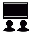 isolated tv silhouette vector image
