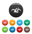 jester icons set color vector image vector image