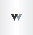 logotype letter w symbol design element vector image vector image
