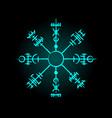 magic ancient viking circle symbol vector image vector image