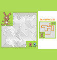maze easter puzzle vector image vector image