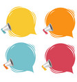 megaphone with speech bubble isolated white vector image