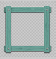 mockup old wooden frame on transparent background vector image