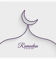 mosque made with line ramadan kareem background vector image