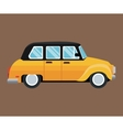 old taxi car side view brown background vector image vector image